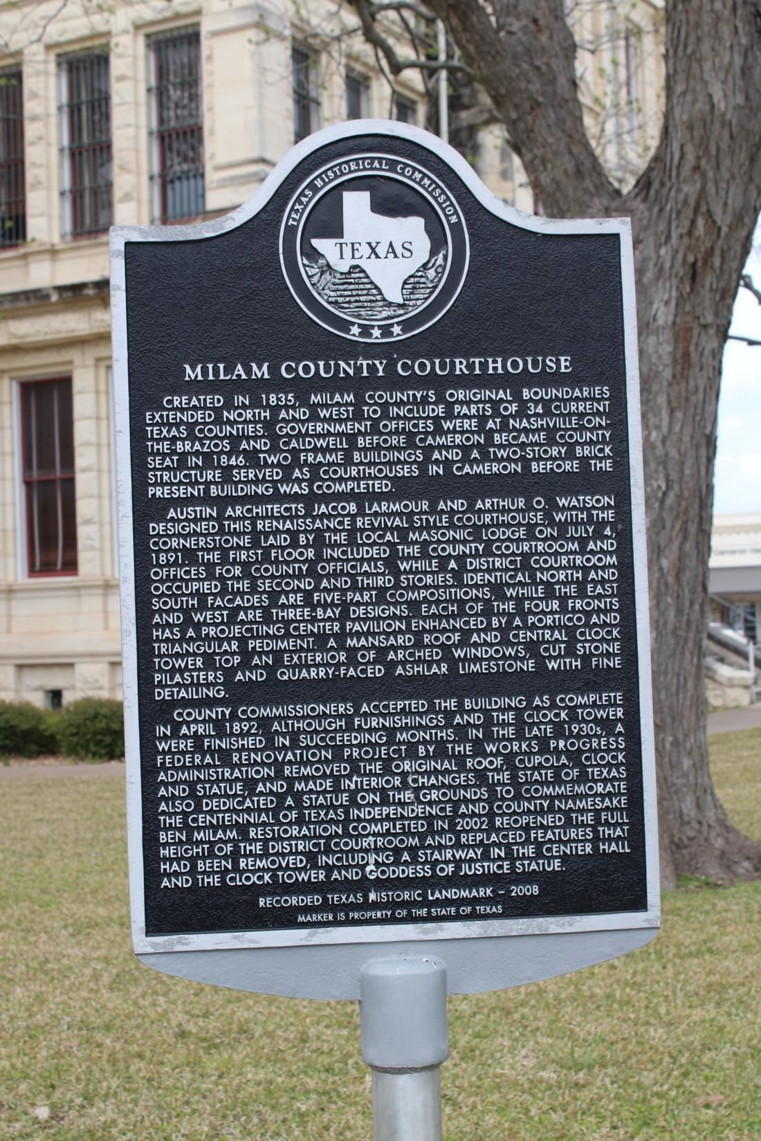 Milam County History