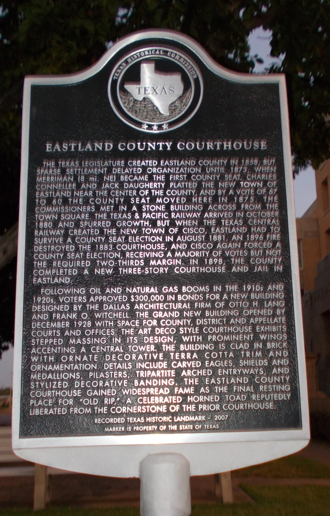 Eastland Courthouse History