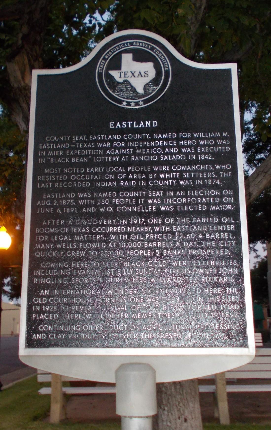Eastland History