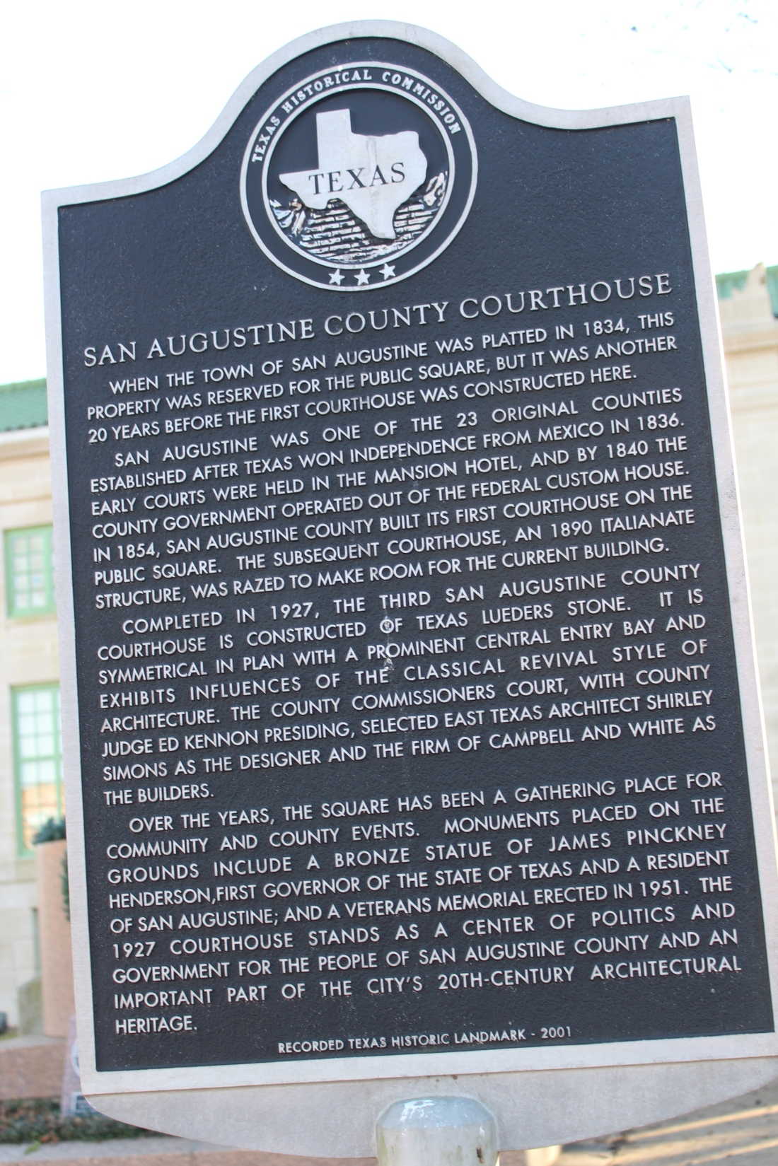 San Augustine History